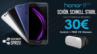 Honor 8 mit 30 Euro Cashback, Hülle und VR-Brille kostenlos dazu