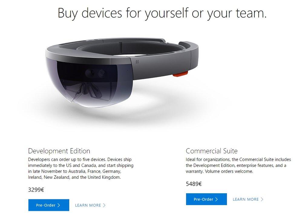 Microsoft HoloLens deutscher Store