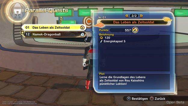 Dragon Ball Xenoverse 2: Alle Parallel-Quests und deren Siegbedingungen