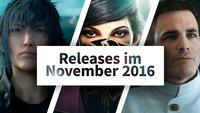 Release-Liste November 2016: Auf diese Spiele kannst Du Dich diesen Monat freuen