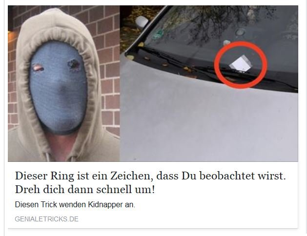 Ring Trick am Auto