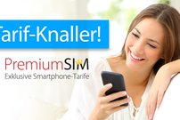 PremiumSIM:<b> 3 GB oder 4 GB LTE + Allnet-/SMS-/EU-Roaming-Flat ab 9,99 € pro Monat, monatlich kündbar</b></b>