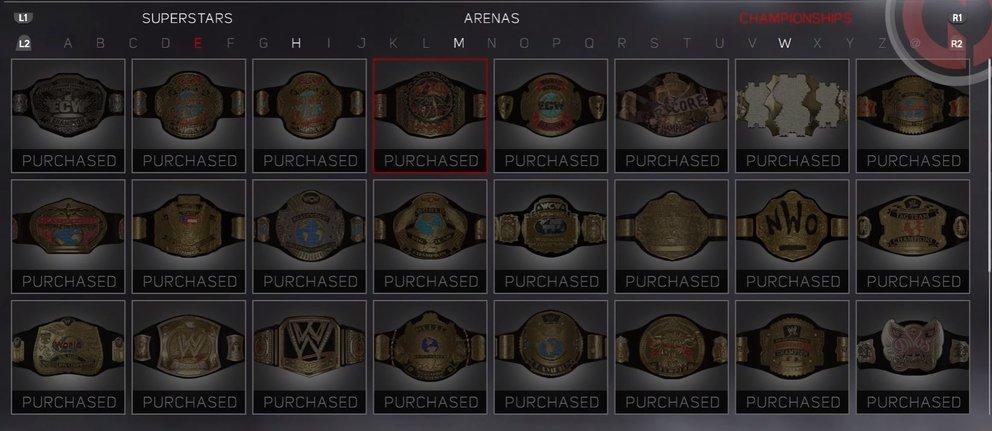 WWE 2K17 Championships