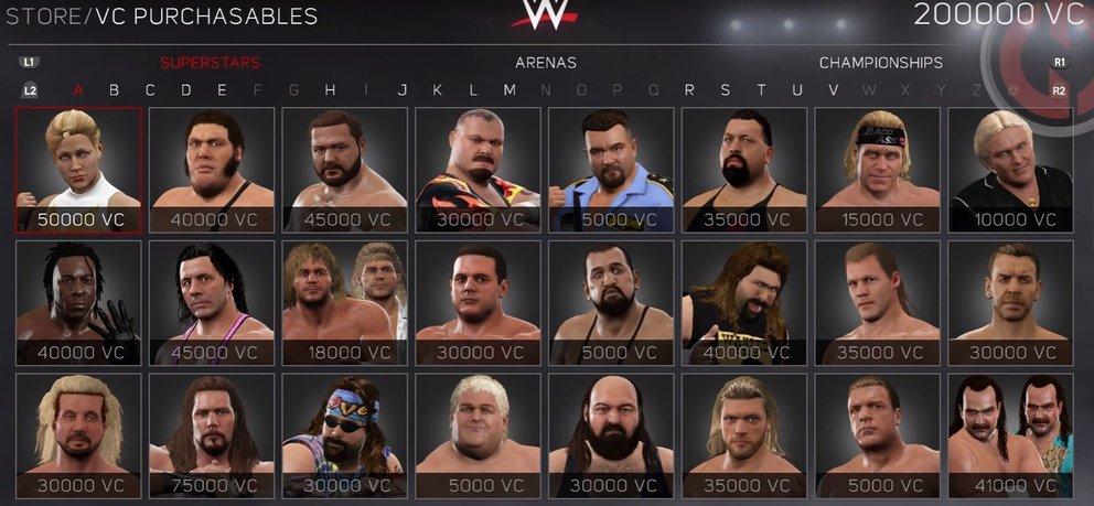 WWE 2K17 Legenden und Superstars