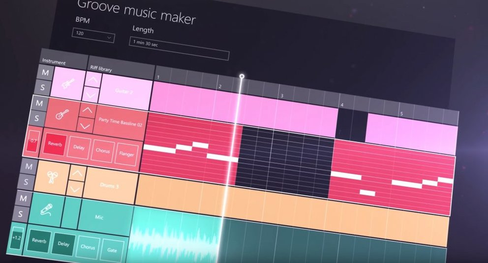 Windows 10 Groove Music Maker th