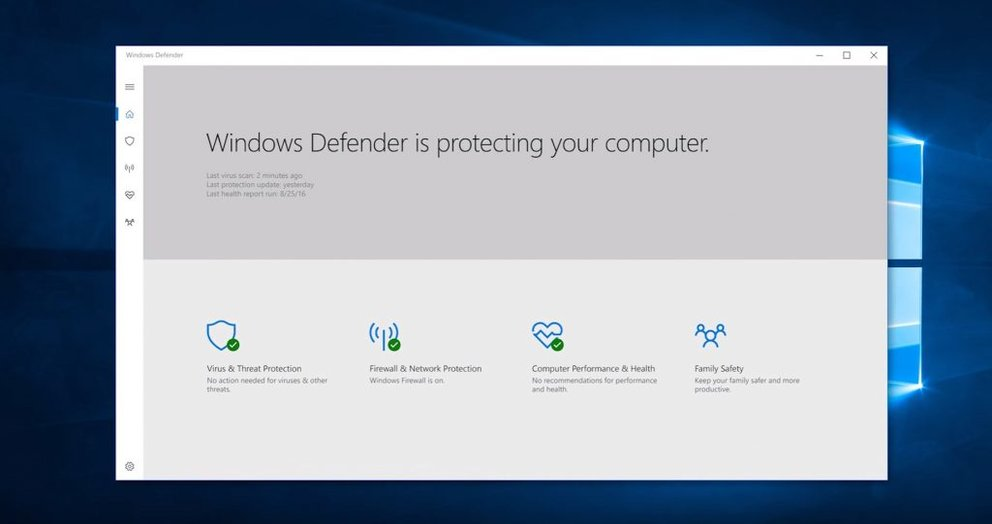 Windows 10 windows defender th