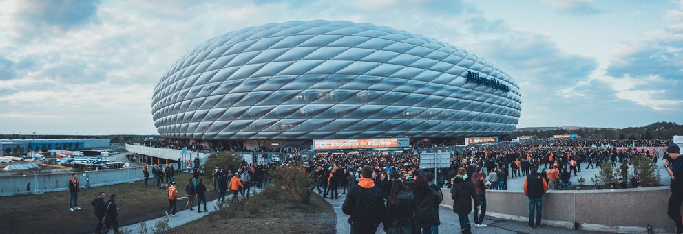 Panorama of Allianz Arena