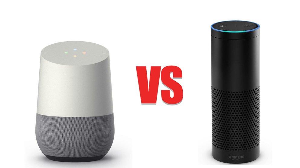 google home vs amazon echo die smarten lautsprecher im. Black Bedroom Furniture Sets. Home Design Ideas