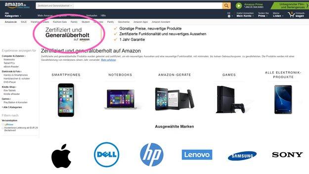 Geld sparen: Amazon verkauft gebrauchte Elektronik jetzt mit Garantie