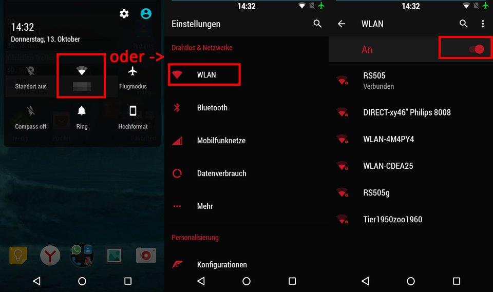 Smartphone: So deaktiviert ihr unter Android das WLAN.