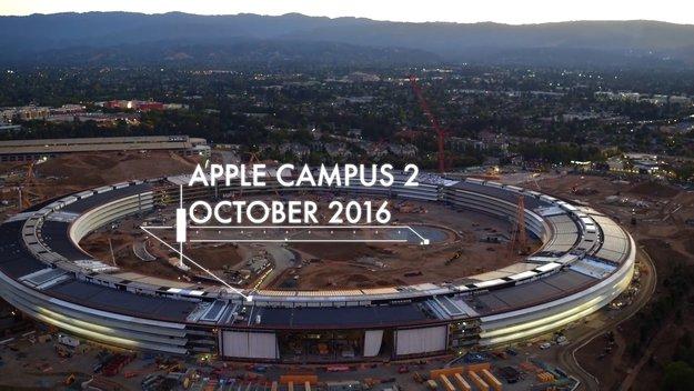 Apple Campus 2: Drohnen-Videos zeigen weit fortgeschrittene Bauarbeiten