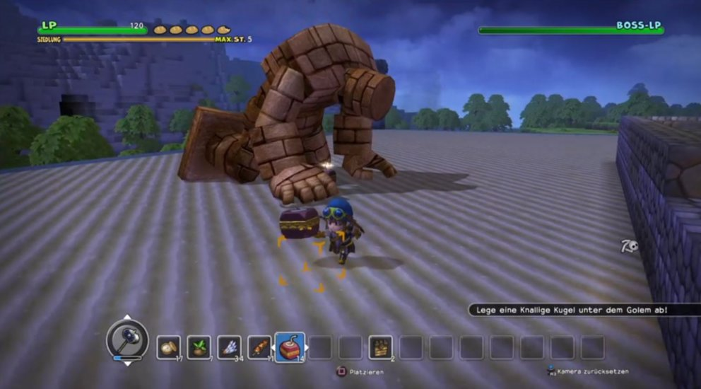 Dragon Quest Builder erster Endboss