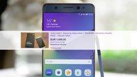 Samsung Galaxy Note 7 auf eBay: Dreiste Verkäufer wittern das große Geld