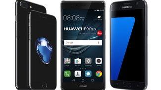 Smartphone-Test bei Stiftung Warentest: Galaxy S7, iPhone 7 Plus und P9 Plus vorne