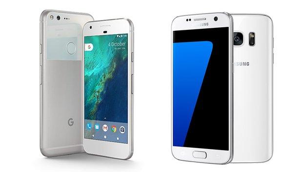Google Pixel (XL) vs. Samsung Galaxy S7 (edge): Die Android-Flaggschiffe im Vergleich