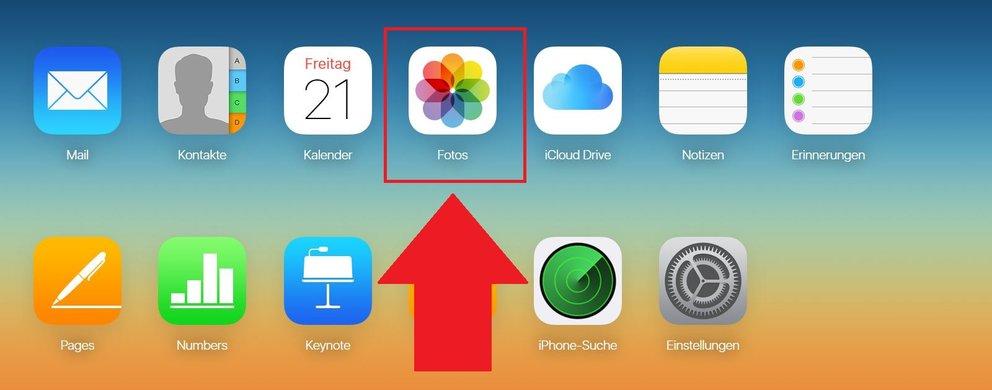 iCloud Fotos synchronisieren