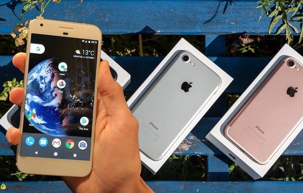 Google Pixel (XL) und iPhone 7 (Plus) im Vergleich: Die Suche nach Unterschieden