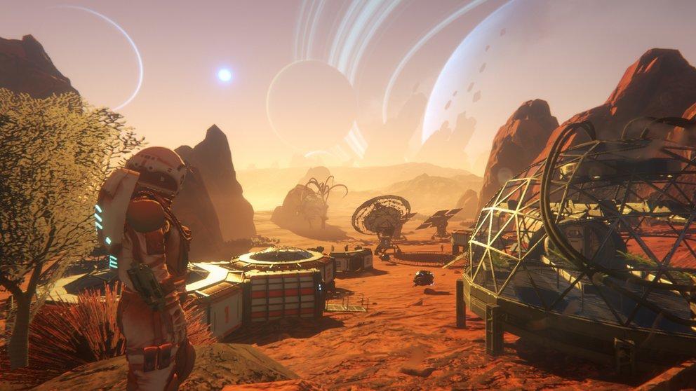 Entdeckt Planeten und baut Materialien ab, um euch eine Behausung und nützliche Objekte bauen zu können.