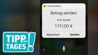 Geld mit Siri überweisen, so gehts (dann doch)