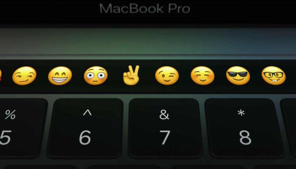 touchbar emojis