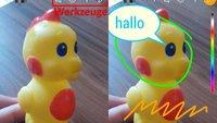 WhatsApp: Emojis, Smiley, Text und Filter auf Fotos & Videos einfügen – so geht's