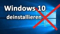 Windows 10 deinstallieren & löschen – so geht's