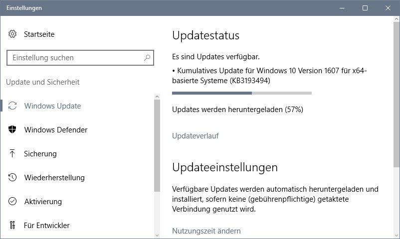 Wenn Windows 10 ein Update durchführt, kann das die gesamte Internet-Bandbreite blockieren und lahm legen.