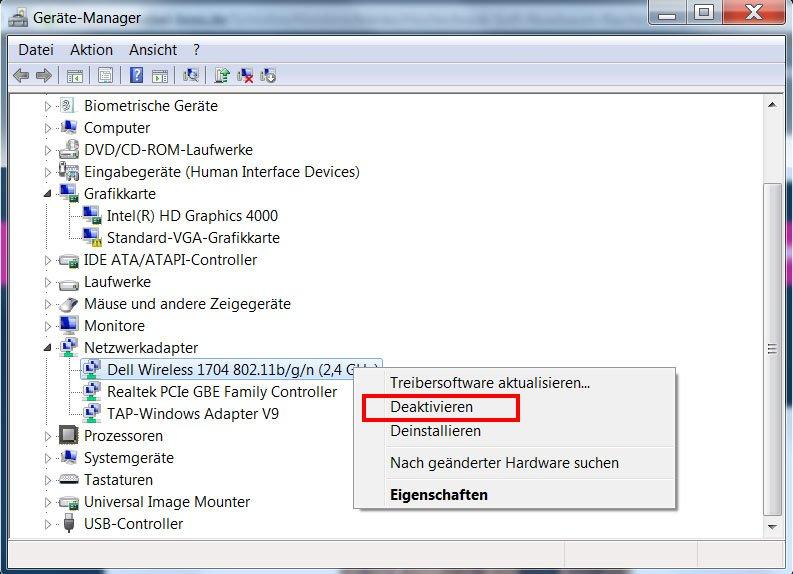 Windows: Im Gerätemanager könnt ihr den WLAN-Adapter deaktivieren.