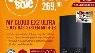 Western Digital My Cloud EX2 Ultra für 269 Euro im Cybersale – 2-bay-NAS-System mit 4 TB