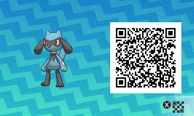 Pokemon Sonne Und Mond Qr Codes Riolu