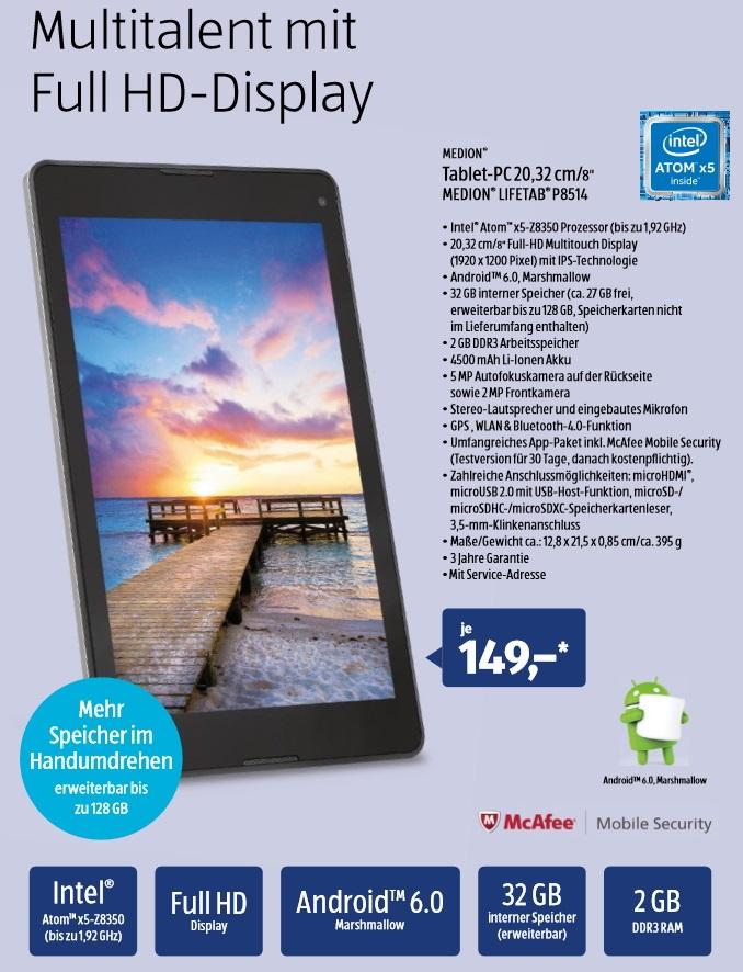 aldi tablet 8 zoller medion lifetab p8514 f r 149 euro ab morgen erh ltlich giga. Black Bedroom Furniture Sets. Home Design Ideas