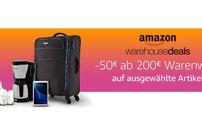 Amazon Warehouse Deals: 50 Euro Rabatt ab 200 Euro Warenwert!