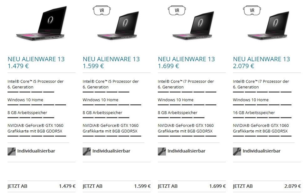 Alienware 13 R3 Preise