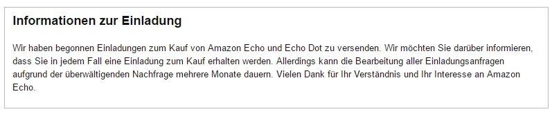 Amazon Echon Einladung