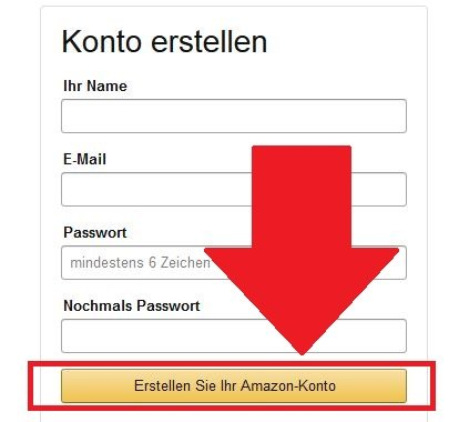 Amazon Konto registrieren