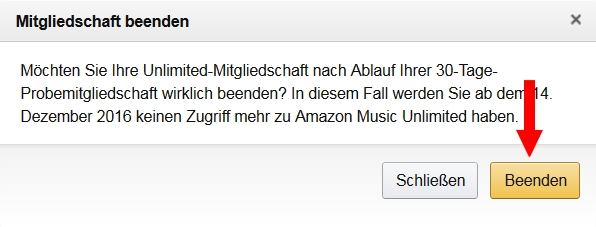 amazon music unlimited k ndigen so beendet ihr euer abo. Black Bedroom Furniture Sets. Home Design Ideas