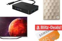 Blitzangebote: USB-C-VGA-Adapter, UHD-TV, Gaming-Keaboard und mehr heute vergünstigt
