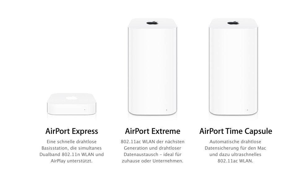 Kundenzufriedenheit bei Apples AirPort-Routern am größten