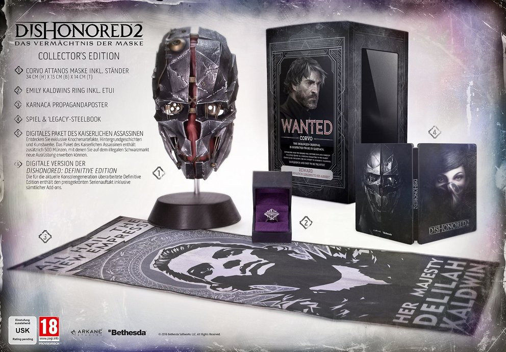 Dishonored 2 Collectors Edition