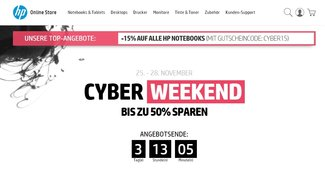 HP Black Friday und Cyber Weekend mit bis zu 50 Prozent Rabatt auf PCs, Laptops, Zubehör uvm.