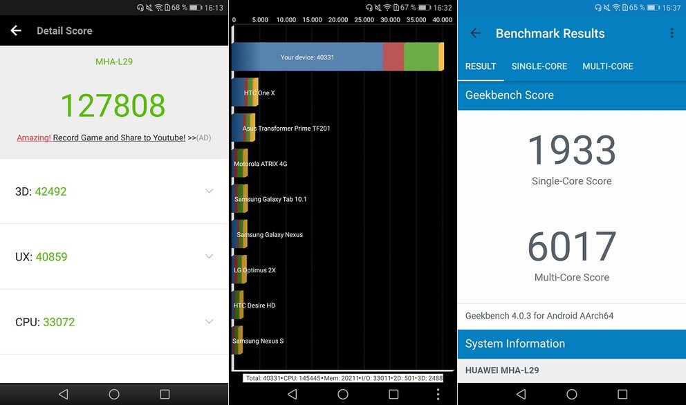 Huawei Mate 9 Test Benchmarks