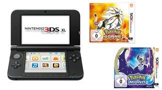 Knaller bei Media Markt! Nintendo 3DS XL + Pokémon Sonne oder Mond für 139 Euro