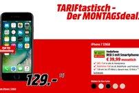 TARIFtastisch: iPhone 7 128 GB mit Allnet- & SMS-Flat, 1 GB LTE & EU-Roaming (Vodafone) für 39,99 Euro pro Monat