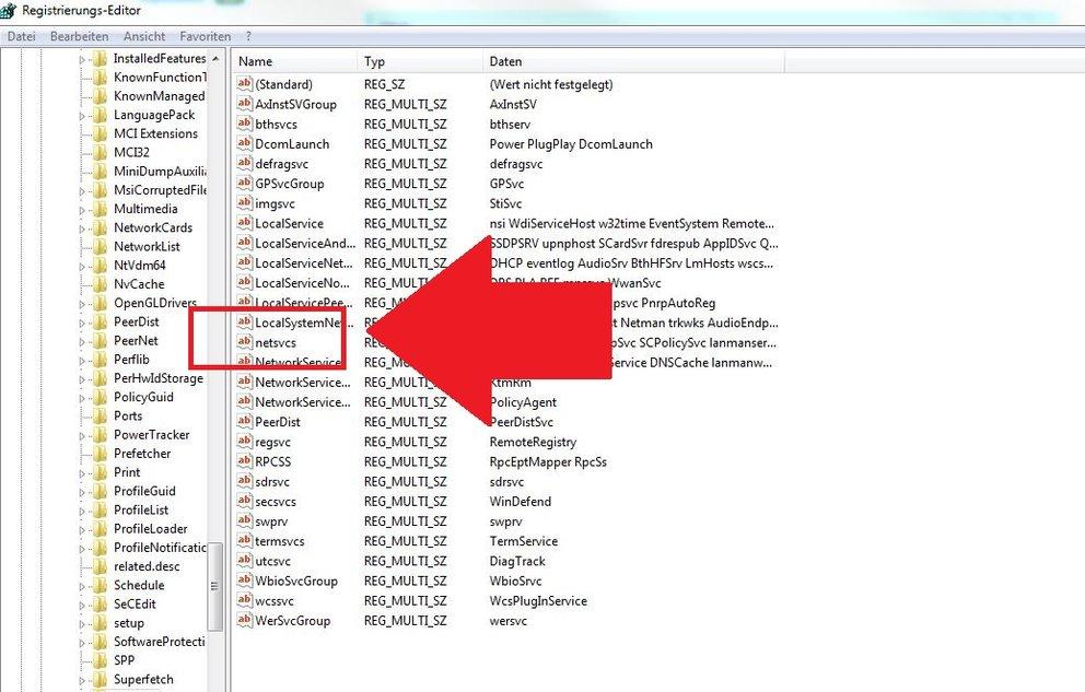 Netsvcs Registry