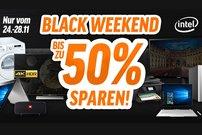 Black Weekend bei notebooksbilliger.de: Bis zu 50 Prozent Rabatt auf PCs, Laptops, Tablets, Zubehör und mehr