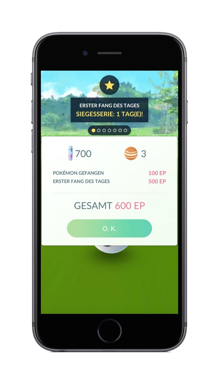 Fangt täglich Pokemon und erhaltet Bonus-XP!