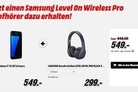 Media Markt: Samsung Galaxy S7 (edge) kaufen und Wireless Pro Kopfhörer im Wert von 150 Euro gratis abstauben