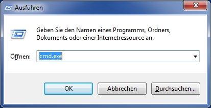 Shutdown Befehle Ausführen cmd exe