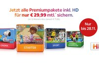 Black Friday bei Sky: Alle Premiumpakete inklusive HD für 29,99 Euro pro Monat