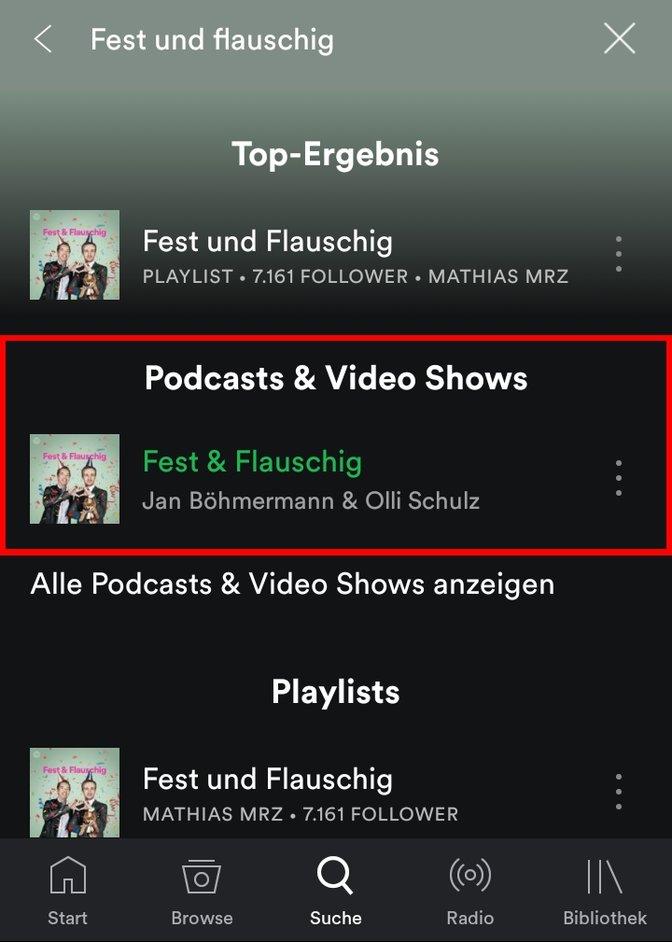 Spotify Fest und Flauschig hören